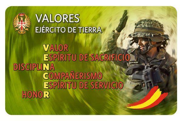 Tarjeta Valores Ejército